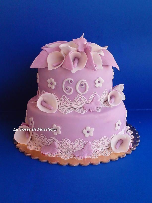 Torta Compleanno 60.60 Esimo Compleanno Donna Le Torte Di Marilena