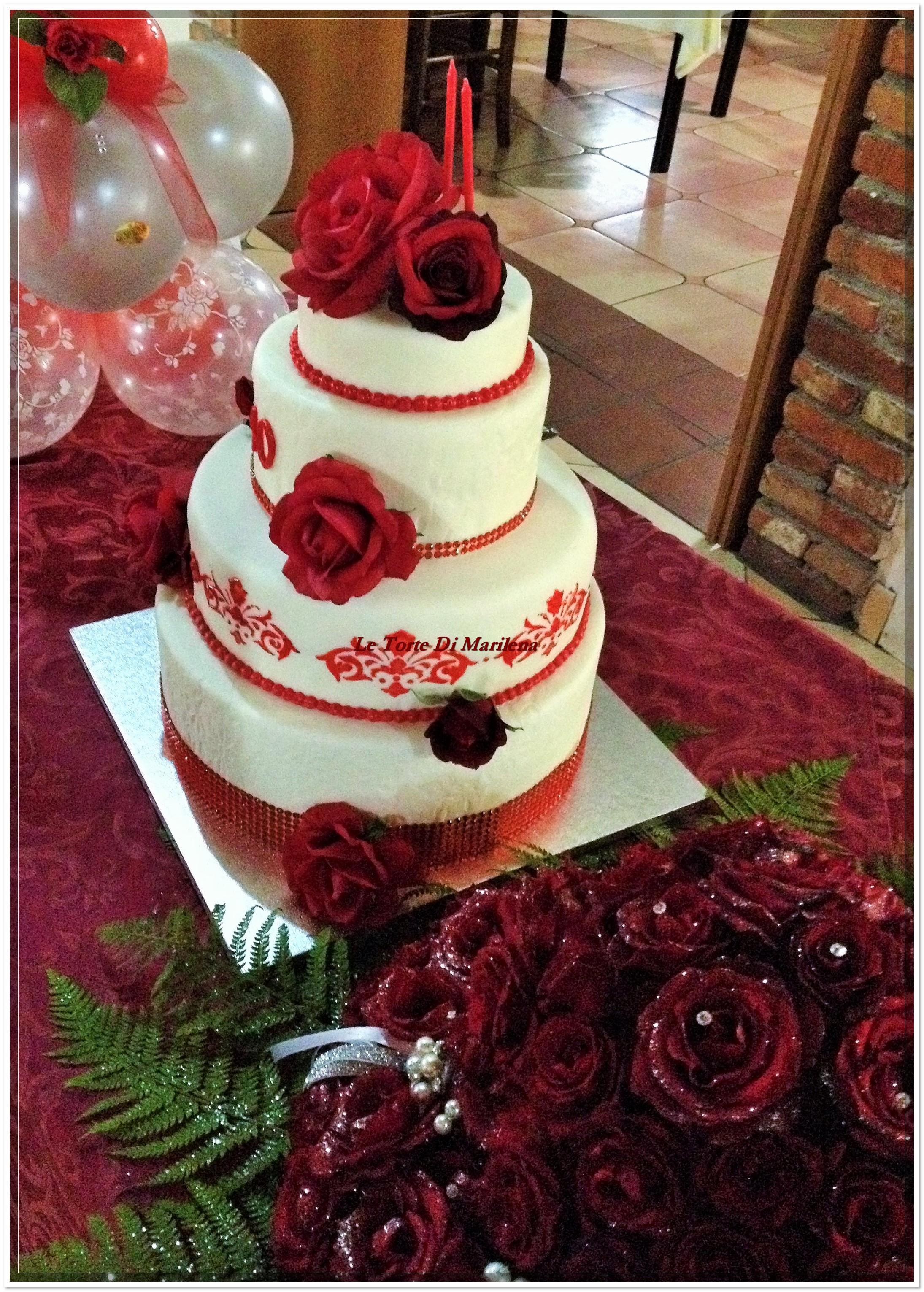 Torta 40 176 Esimo Compleanno Donna Le Torte Di Marilena