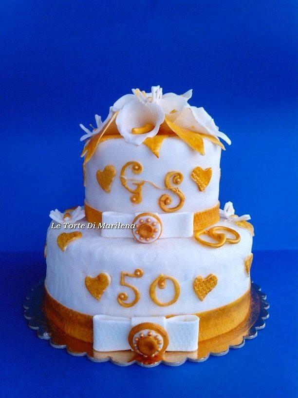 50 Esimo Anniversario Di Matrimonio Le Torte Di Marilena
