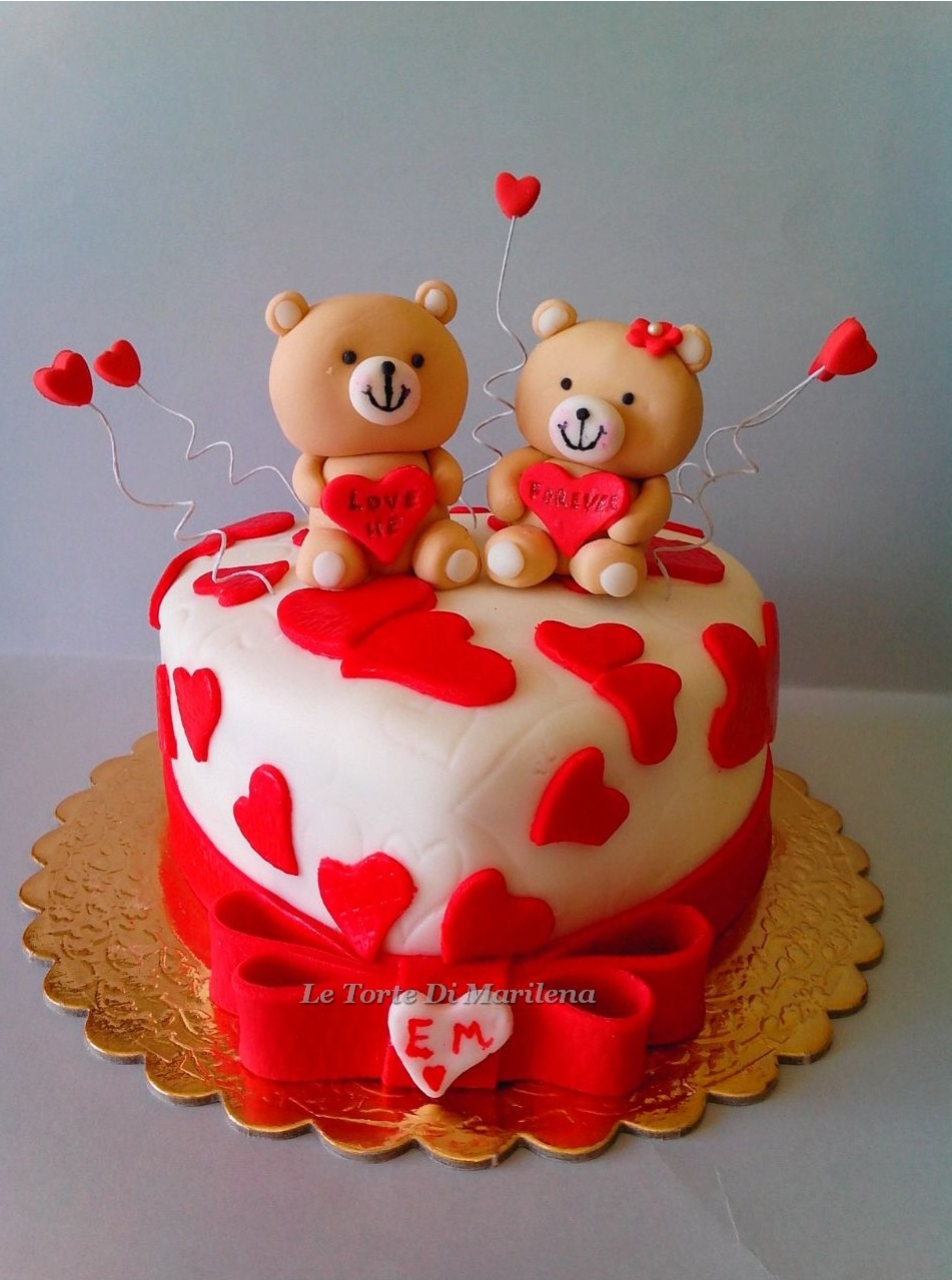 Torte Anniversario Di Matrimonio Pasta Di Zucchero.Anniversario Di Fidanzamento Le Torte Di Marilena