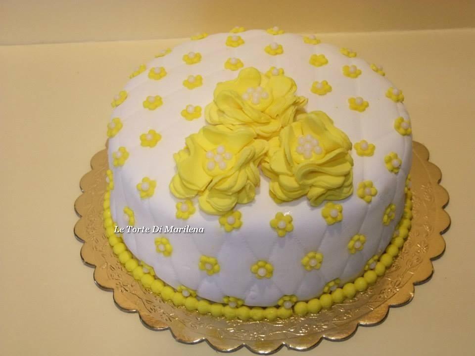 Torta Floreale Di Compleanno Le Torte Di Marilena
