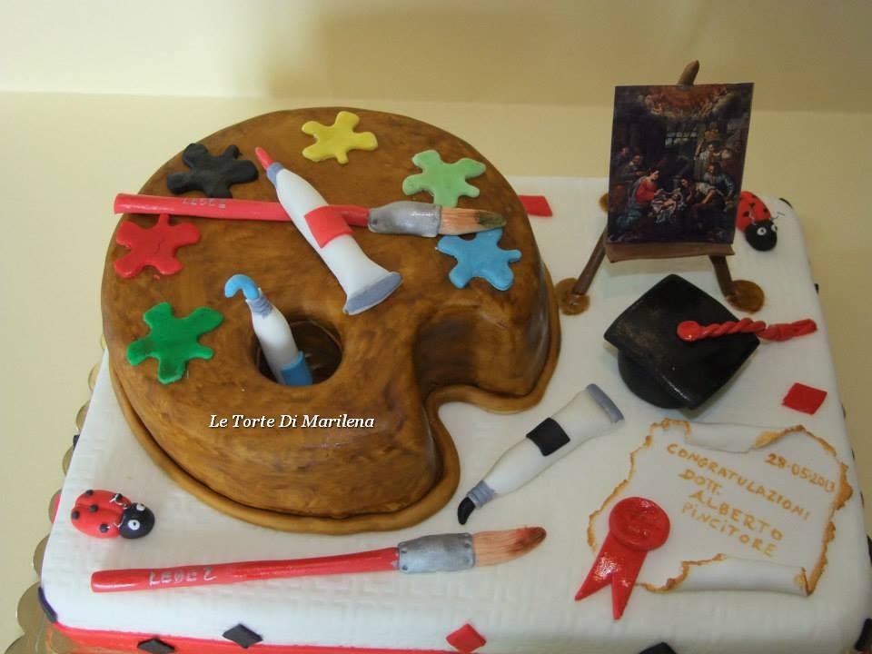 Torta laurea in storia dell 39 arte le torte di marilena for Arte delle torte clementoni
