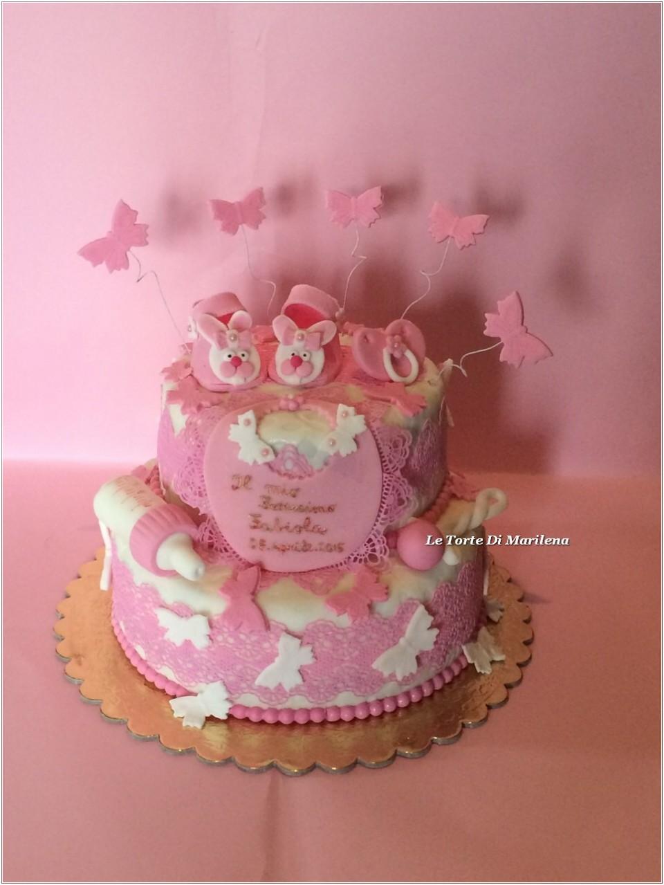 Macchina Per Pasta : Torta battesimo bambina le torte di marilena
