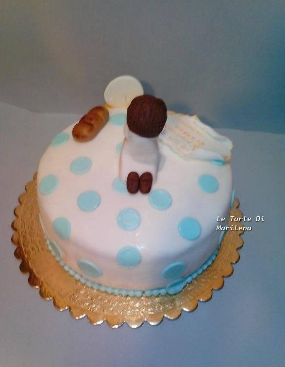 Torta prima comunione bambino le torte di marilena for Decorazione torte prima comunione