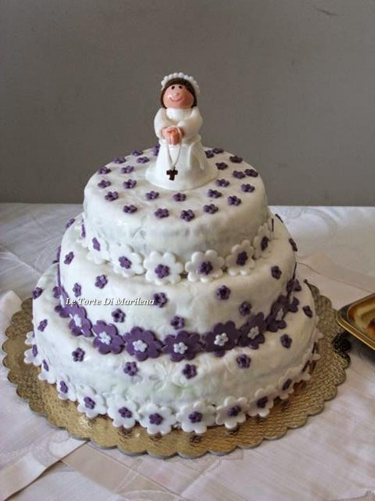Favori TORTA PRIMA COMUNIONE BAMBINA | Le Torte di Marilena UL98