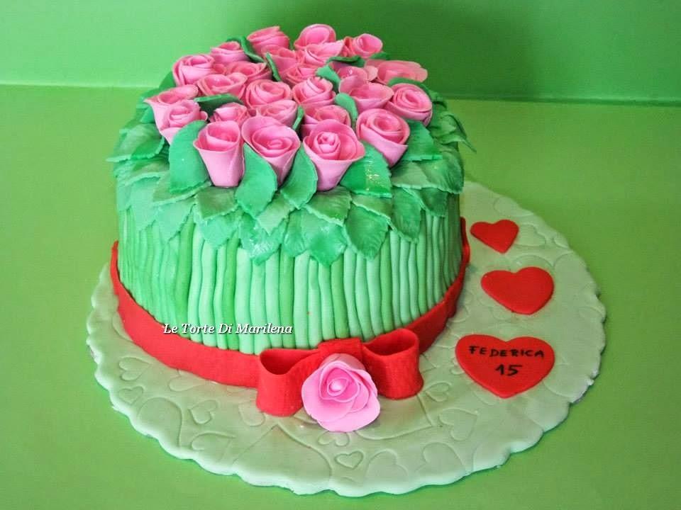 torta mazzo di rose le torte di marilena