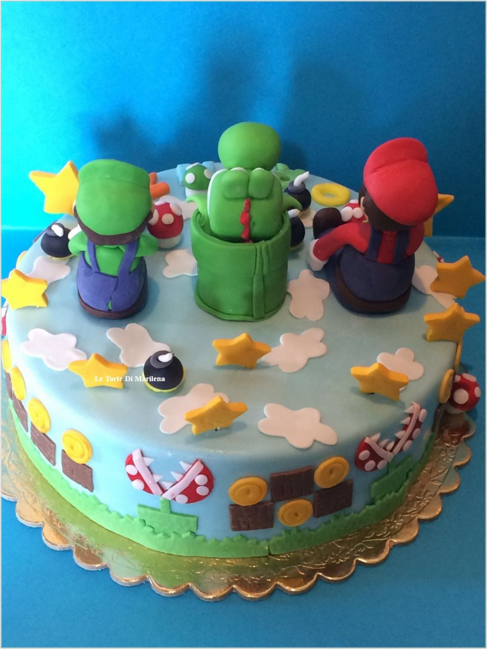 torta super mario luigi le torte di marilena. Black Bedroom Furniture Sets. Home Design Ideas
